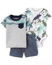 Bebê recém-nascido roupas menino 3 pçs define infantil meninos camiseta + bodysuit shorts da criança do verão bebe crianças cothing 3 pcs ternos