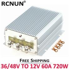 FREE Shipping 24V 36V 48V to 12V 13.8V 50A 60A Step Down DC DC Power Converter RCNUN Golf Cart Voltage Reducer CE RoHS