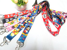 2019 Bonito Dos Desenhos Animados Mickey Mouse Cordão Alça de Pescoço para Chaves ID Crachá Titular Do Cartão de Ginásio Cintas Do Telefone Móvel USB DIY neck Straps(China)