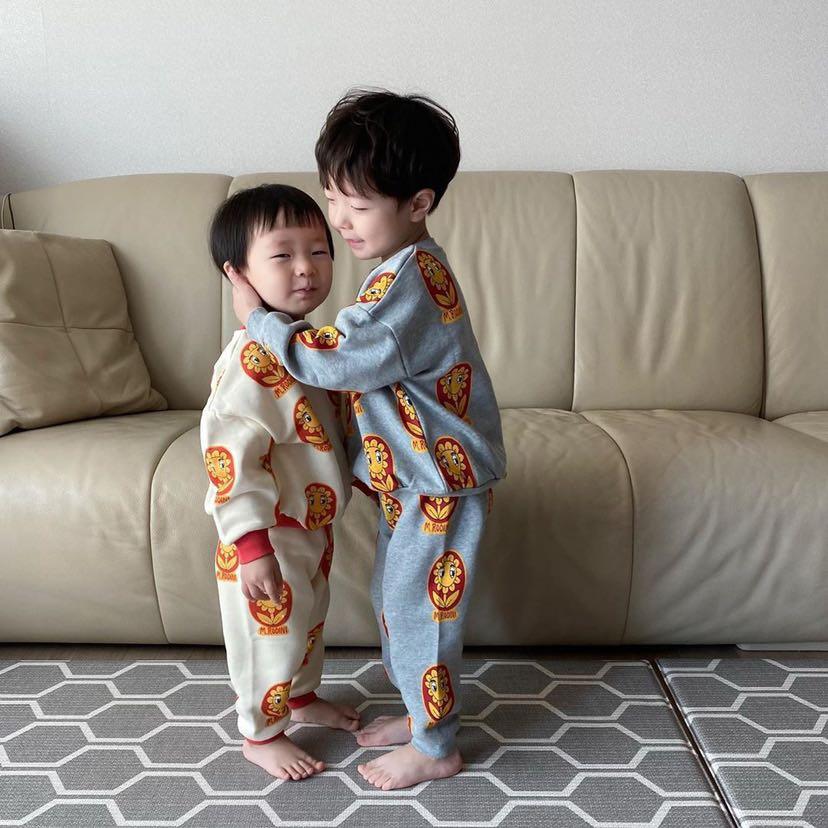 Mini 2020 New Autumn Winter Long Sleeve Sweater Baby Girls Costumes Children Tracksuits Boys Sweatshirts Kids Pants Christmas 4