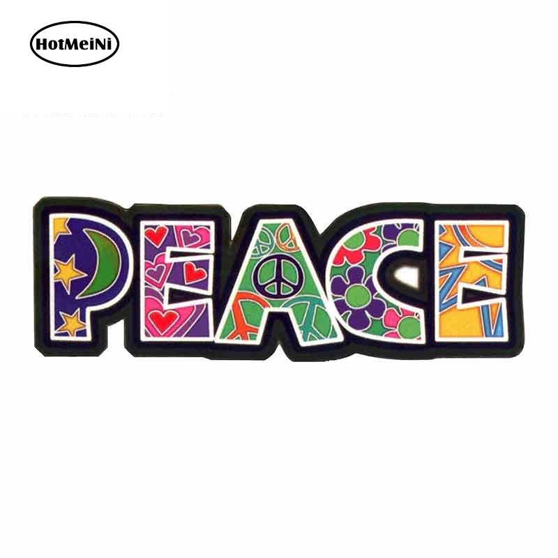 HotMeiNi 13cm X 5.2cm For Peace - Translucent Comic Decal Personality Creative Stickers Suitable For GRT SX VAN Decoration