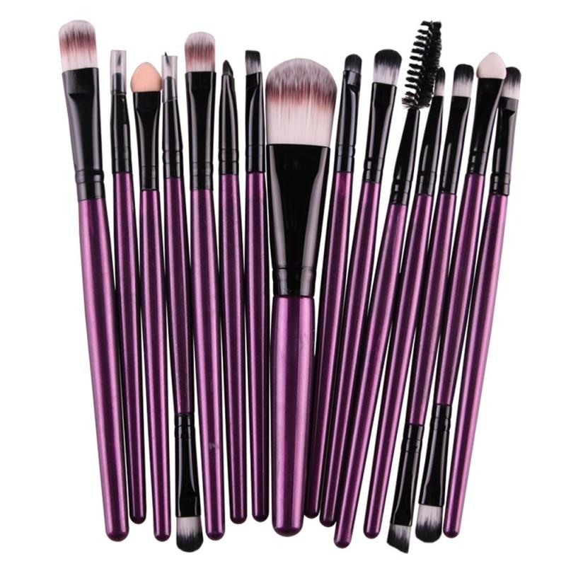 15 шт. набор кистей для макияжа, кисть для теней для век, высокое качество, набор инструментов, косметические макияжные щетки и инструменты дл...