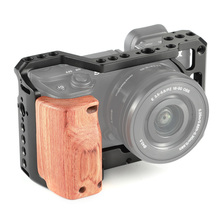 SmallRig A6400 Camera Cage Kit for Sony A6300 / A6500 With Wooden Handle Grip 1/4 3/8 Thread Hole DIY Options