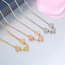Beauty Pendant Ladies Jewelry Necklace Collar Alloy Three Heart Professional Small