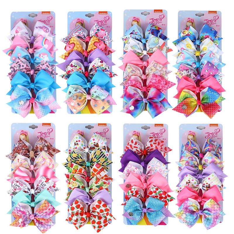 6pcs/card  Bows Hair Clip Hairpins Barrette Fashion Hair Accessories For Girls Cute Mermaid Christmas Bows With Clips