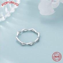 Pofunuo s925 Серебряные кольца в японском стиле для девочек