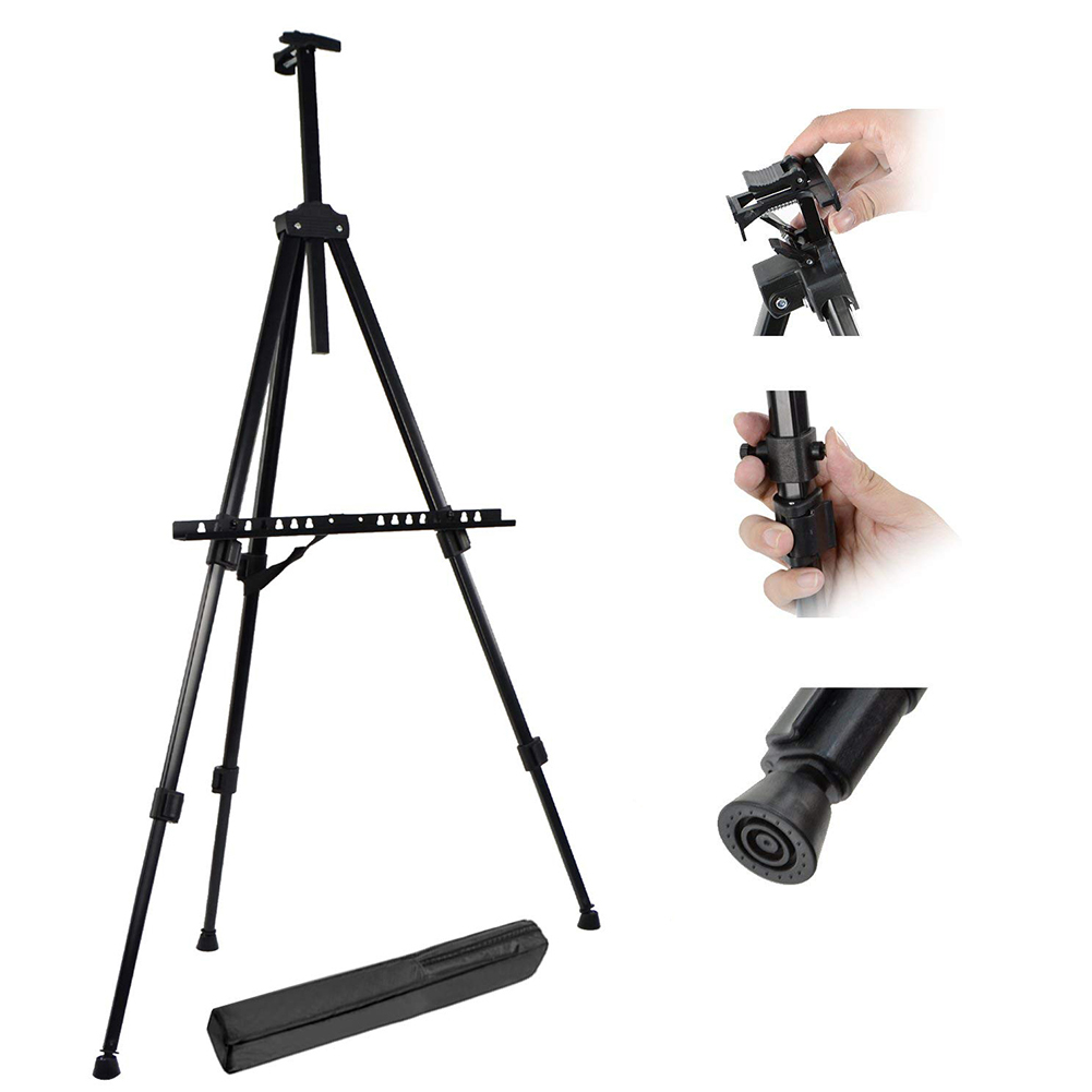 Art Craft Supplies Board Portable School Display Painting Easel Telescopic Stand Adjustable Height Folding Students Metal Tripod