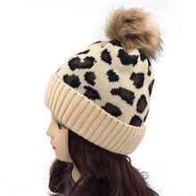2020 новые зимние леопардовым принтом Шерстяная трикотажная