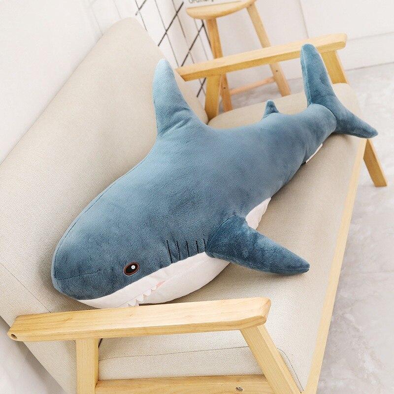 Speedline 80/100CM Big Size Funny Soft Bite Shark Plush Toy Gift For Children Cute Pillow Appease Cushion Lovely Doll
