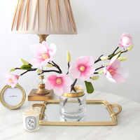 Magnolia Fiore Artificiale Ramo di fascia Alta Decorazione Della Casa Europea Falso Fiore Del Commercio All'ingrosso Decorazione di Cerimonia Nuziale Del Fiore Della Decorazione