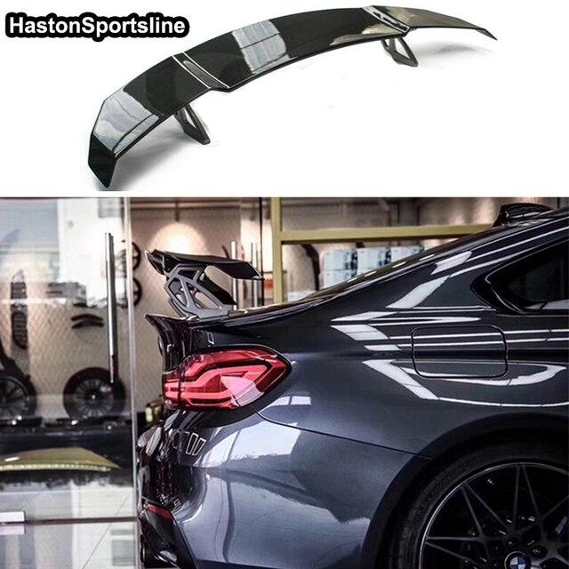 F80 M3 F82 M4 V tarzı karbon Fiber araba Styling arka bagaj dudak spoiler kanat için BMW M4 M3 M5 m6 E90 E92 E82