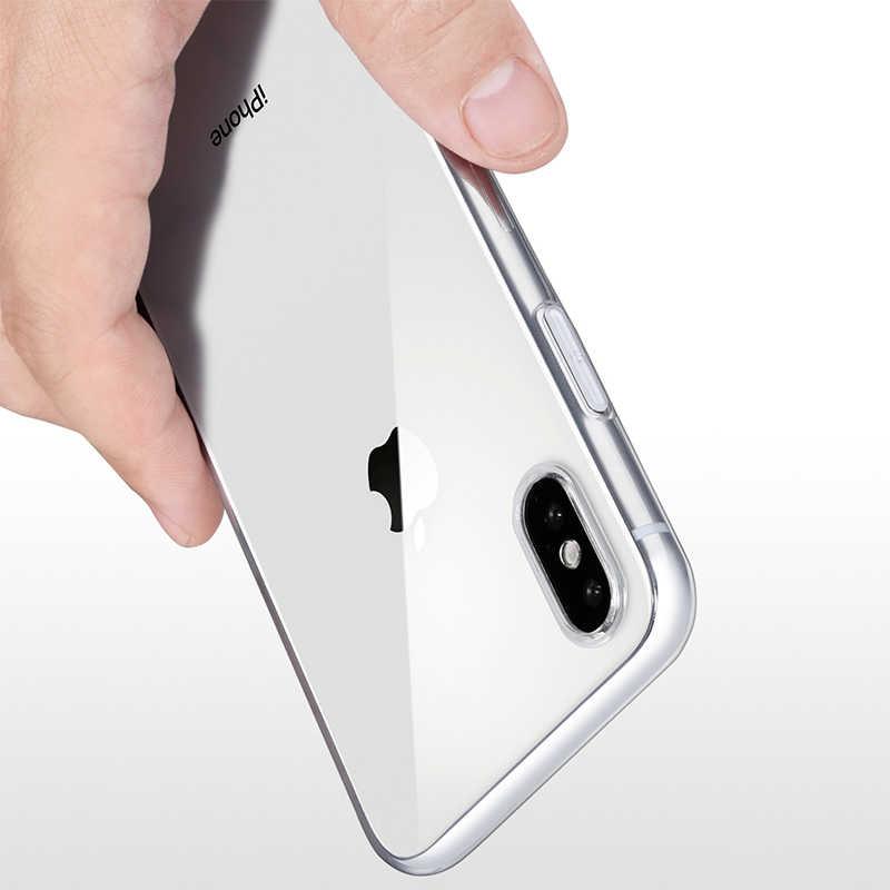 Trasparente della Cassa Del Silicone Per il iPhone Caso di X iPhone XR TUP Cassa Molle Della Copertura Posteriore Per il iPhone 7 8 6 6s Plus 5 5S SE 11 Pro Max Copertura Del Telefono