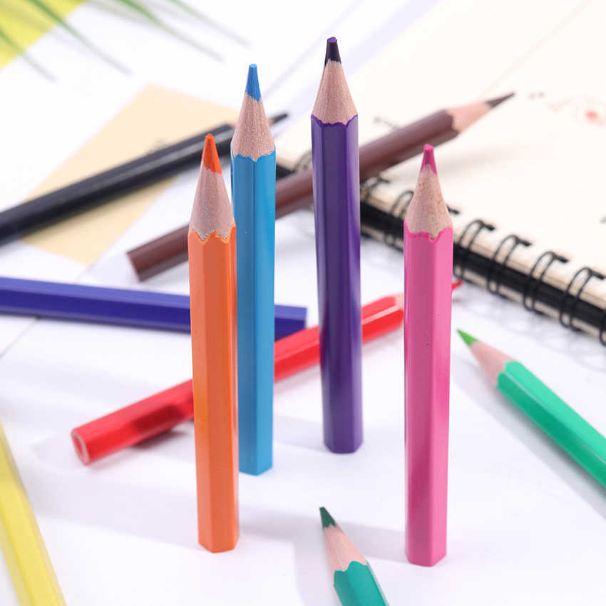 12PCS ילדי ציור שאינו רעיל צבע ציור עט צבע ילדי ציור סקיצה אספקת צבע עיפרון