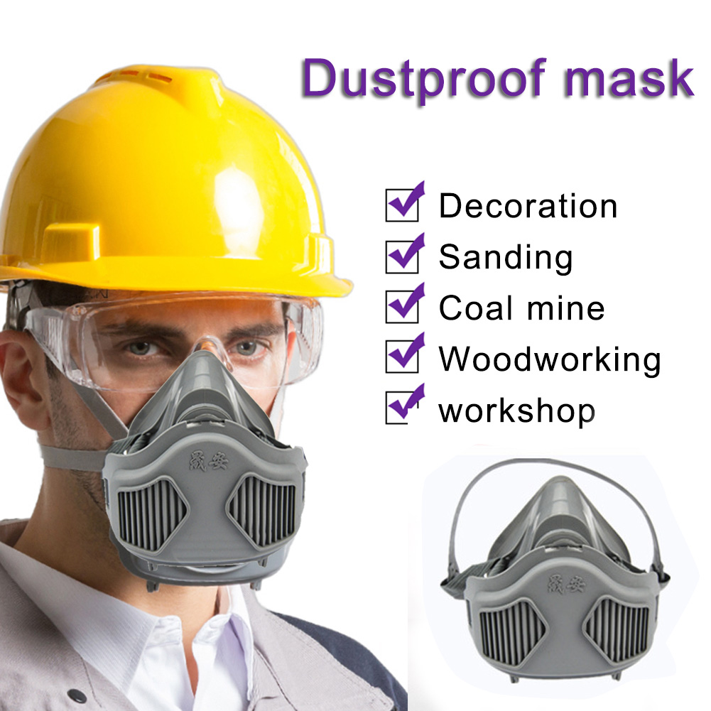 3200 Masks/20pcs 3701CN Filter Cotton Half Face Dust-proof Mask Anti Industrial Construction Dust Haze Fog Safety Gas Mask