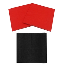2 Pack Solid Color Printed Paper Napkin Black & Red