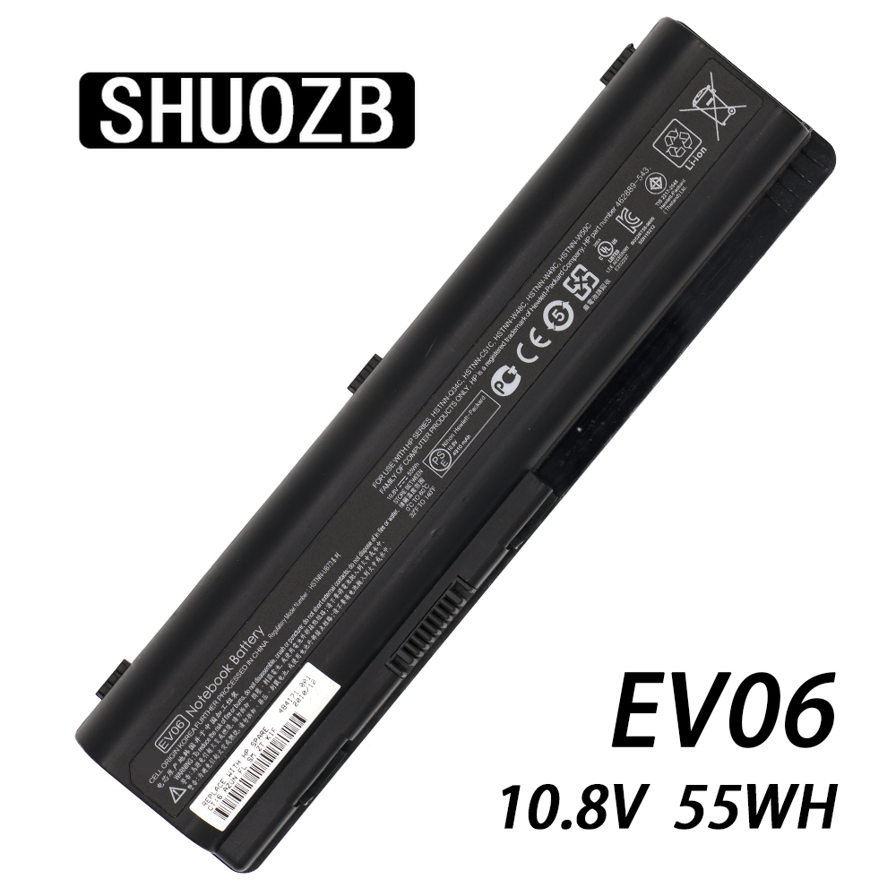 EV06 Laptop Battery For Hp HSTNN-C51C HSTNN-Q34C HSTNN-W48C HSTNN-W49C HSTNN-W50C HSTNN-UB73 HSTNN-UB72 HSTNN-XB73 HSTNN-XB79