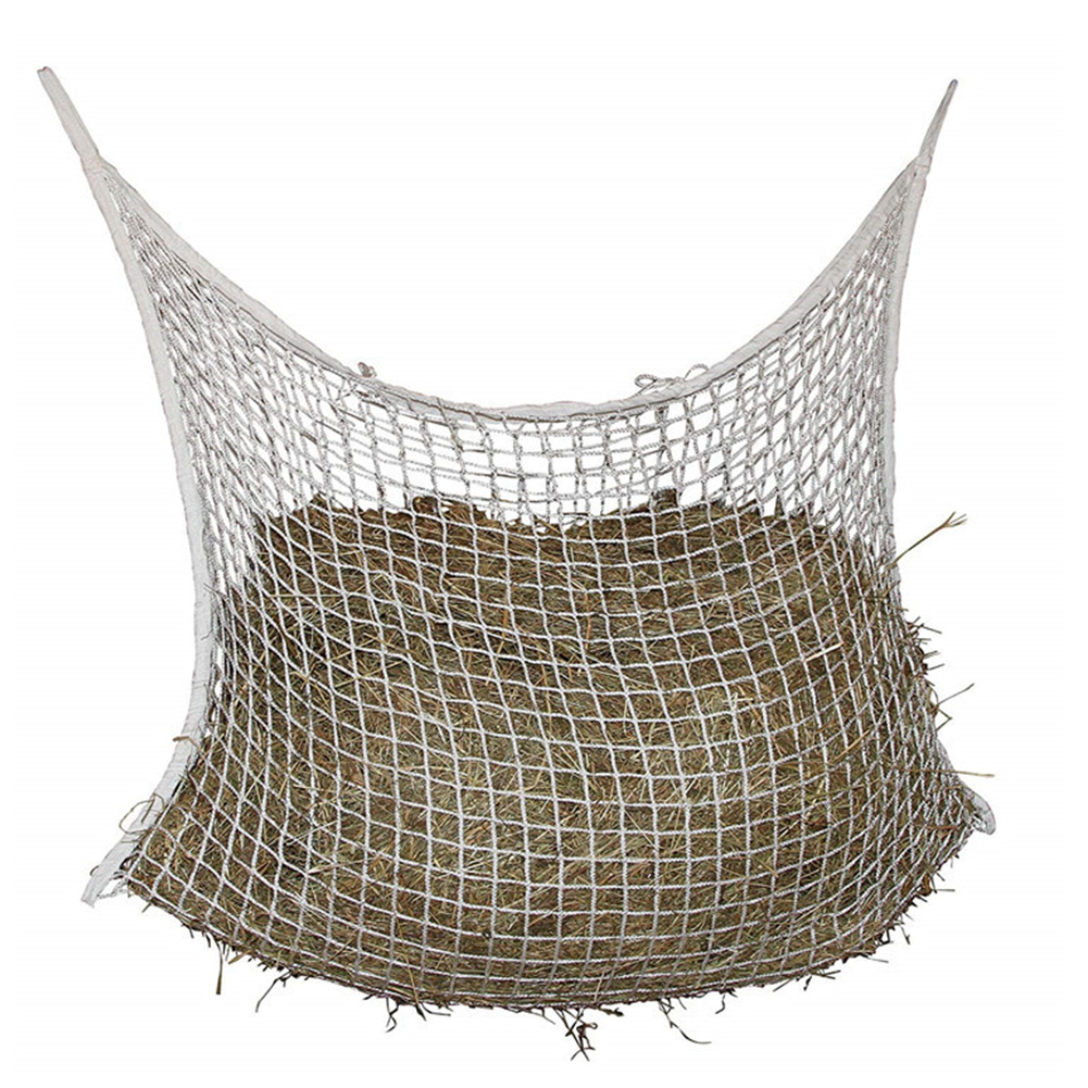 Mesh Net Horse Feeding Large Capacity Hanging Small Hole Space Saving Portable Home Hay Bag Braided Nylon Wear Resistant Storage