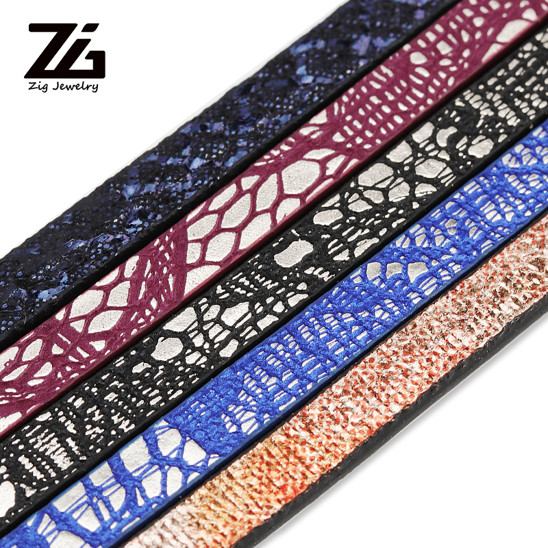ZG 1.2m 5mm PU Bracelet Leather Strap Diy Fashion Jewelry Making Materials Jewelry Discovery Accessories