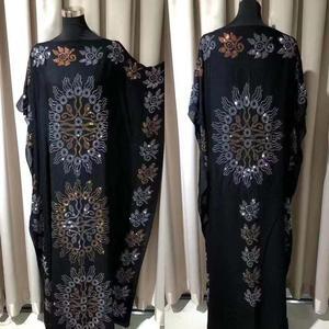 Image 5 - طول الفستان: 145 سنتيمتر فساتين موضة جديدة بازين طباعة Dashiki المرأة طويلة/نمت Yomadou اللون نمط المتضخم