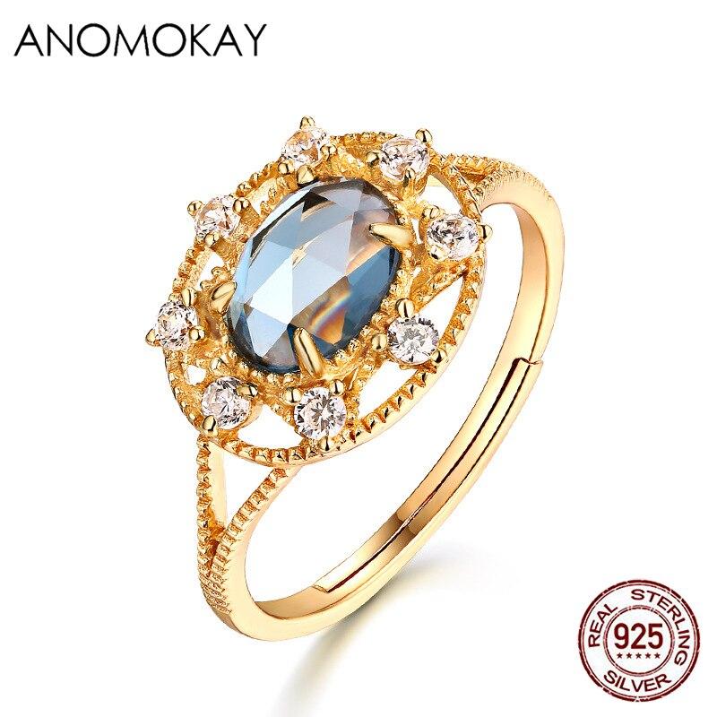 Кольцо женское из серебра 925 пробы с овальным голубым топазом