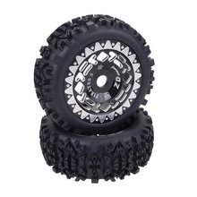 цена на 4pcs 1/8 RC Buggy Scale Truck Off-Road Tyre Banner Wilderness Tires Glue Wheels Contest Practice for 1/8 RC Car Parts