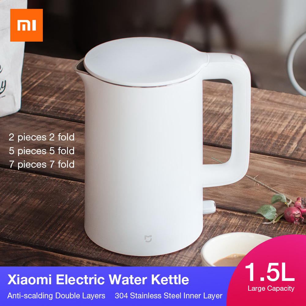 Original 1 Mijia Electric Kettle Tea Pot 1.5L Auto Power-off Protection Water Boiler Teapot Instant Heating Stainless Steel