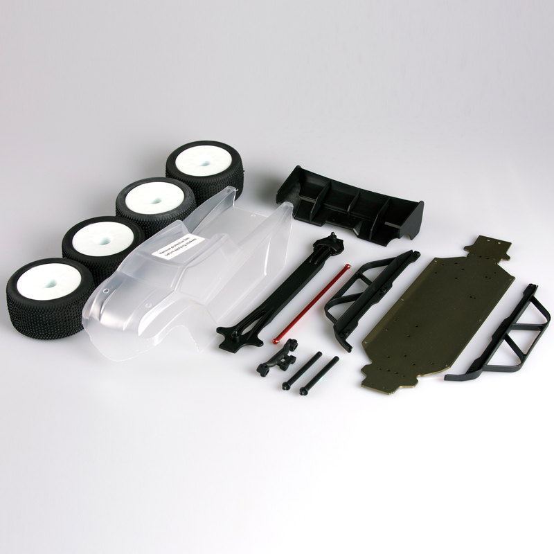 LC RACING L6213 BUGGY-TRUGGY CONERSION KIT(CLEAR BODY)