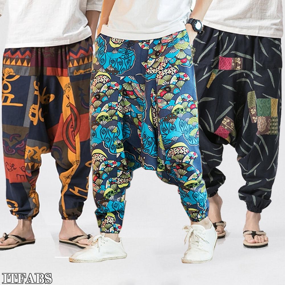 Neue Damen Haremshose Leggings Baggy Aladdin Boho Hippie Pants