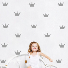 24pc Baby Nursery Crown Pattern Wall Sticker For Kids Room Bedroom Decor Princess Wall Decal Kids Wall Sticker Art Sticker Mural
