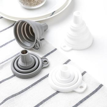 DIY Food-Grade Folding Silicone Funnel Household Liquid Dispensing Mini Funnel Kitchen Tool Cocina Accesorios