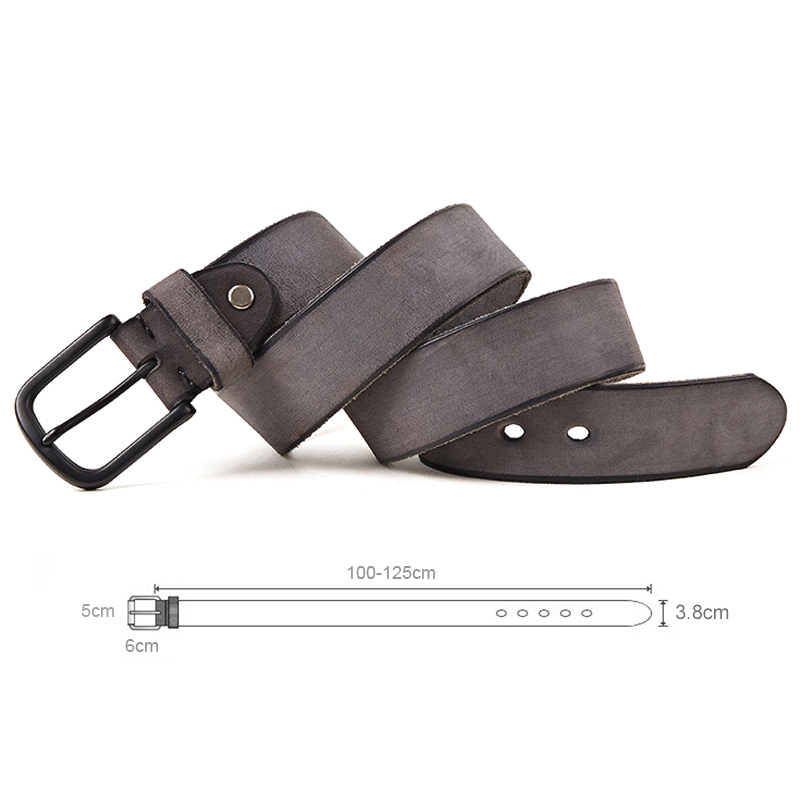 Image 3 - MEDYLA 100% original leather men's belt matte metal pin buckle soft tough leather belt for men without interlayer male belt-in Men's Belts from Apparel Accessories on AliExpress
