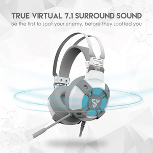 Image 3 - Fantech HG11 Wit Gaming Hoofdtelefoon Led 7.1 Surround Sound Koptelefoon Met Microfoon Voor Pc PS4 Ns Schakelaar Headset Gamer
