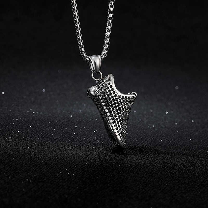 Mężczyźni Sneaker naszyjnik biżuteria ze stali nierdzewnej złoty obuwie sportowe wisiorek długi choker łańcuszek prezent dla chłopaka Colar Masculino BFF