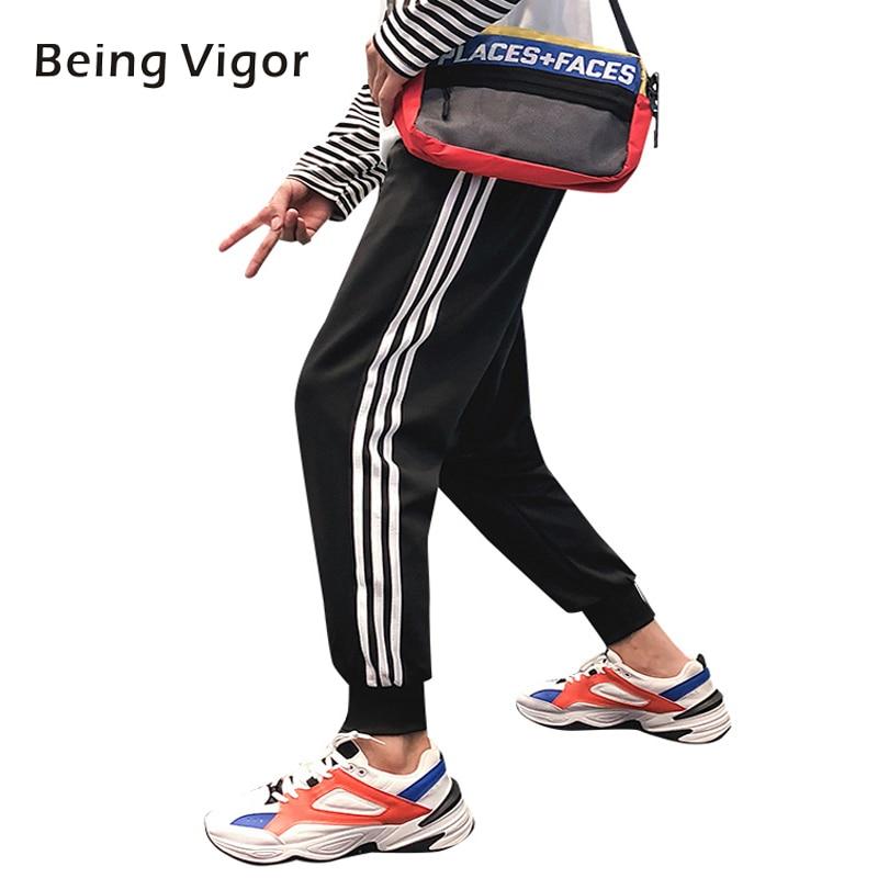 Men Pants Striped Sweat Jogger Autumn Casual Mens Sweatpants Sportswear Long Trousers New Straight Pants Man Fitness 4XL
