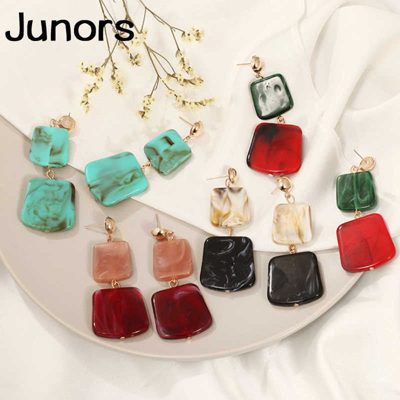 Vintage colors Acrylic earrings for women earrings pendants geometric fashion statement luxury earrings women's jewelry 2019