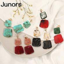 Vintage colors Acrylic earrings for women pendants geometric fashion statement luxury womens jewelry 2019