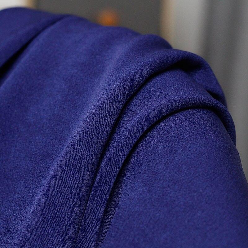 Japanese fabric Navy Satin Triacetate fabric by the yard