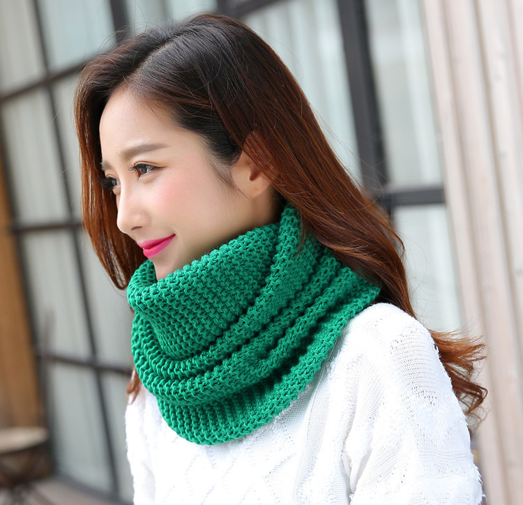 Winter Scarf Women Infinity Knitted Scarf Circle Neck Scarf women Super Chunky Loop Snood Unsex Solid Crochet