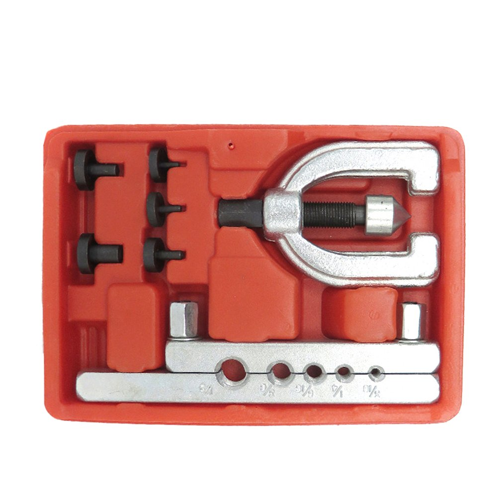Metric Double Flaring Brake Line Tool Kit Pipe Flaring Kit Brake Fuel Tube Repair Flare Tool Set For Automotive Brake Pipe