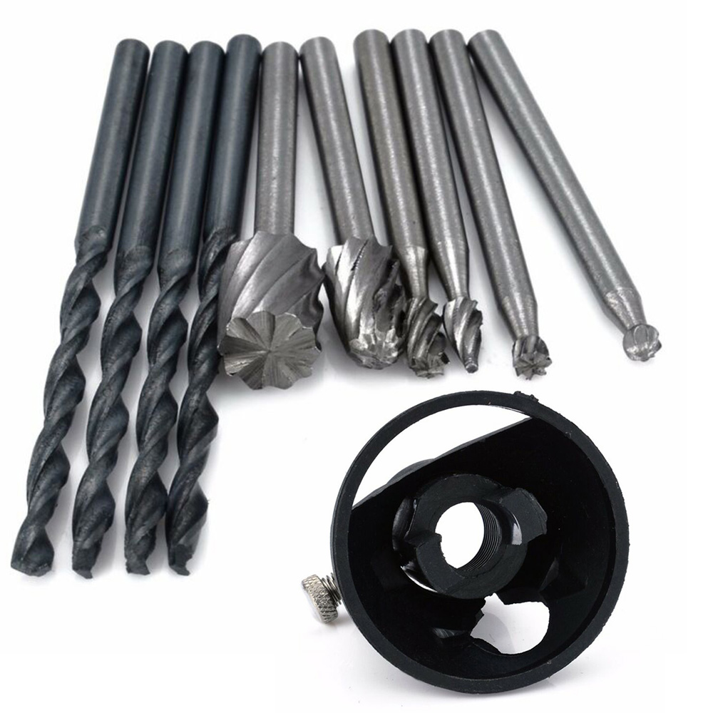 Rotary Multi Tool Cutting Guide HSS Router Drill Bits Kit Attachment Cutters Set Compressor Pneumatic Tools Kompresor Compresor