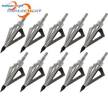 12pcs Arrow Broadheads for Crossbow Longbow Hunting Target Shooting Accessories 100GR 3 Blades Replaceable Silver Arrowhead Tips 1