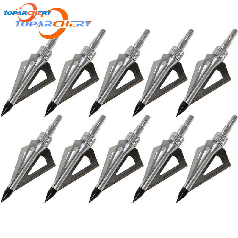 6pcs 100Gr Silver  Broadheads For Compound Bow Crossbow Hunting Archery Target