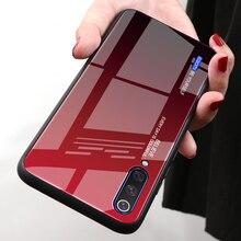 Color Glass Case For Xiaomi Mi A3 A2 A1 Tempered Glass Cover For Xiaomi MiA3 MiA2 MiA1 Phone Housing Cover Capa Silicone Bumper