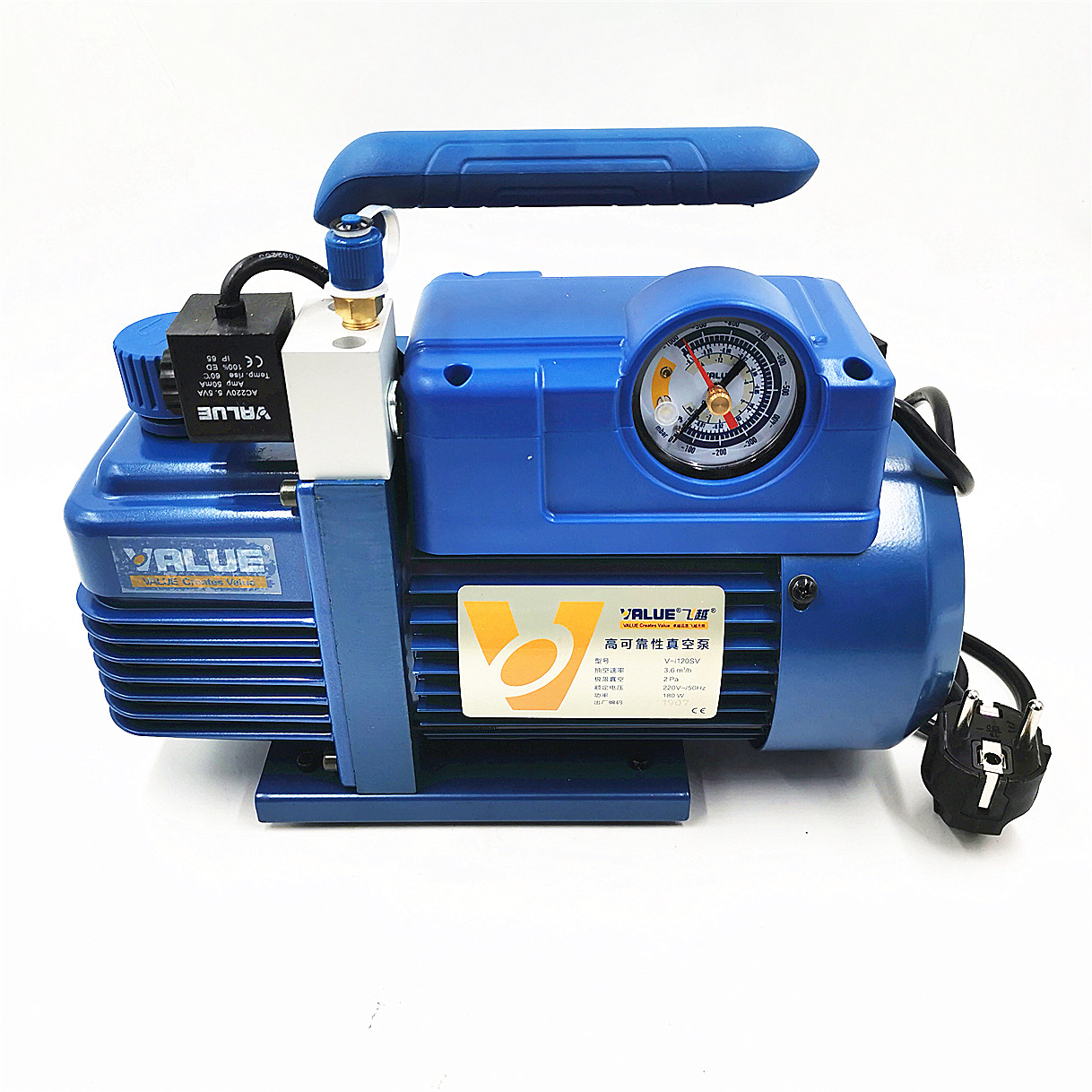 3.6m3/h 220V 180W V-i120SV Air Conditioning Laboratory Air Pump Refrigerate R410 Vacuum Pump 1L R410 R407C, R134a, R12, R22