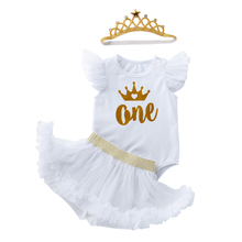 Для маленьких девочек; Платье на день рождения для детей возрастом от 1 года до года детская одежда из бутика для девочек платье на крестины ...