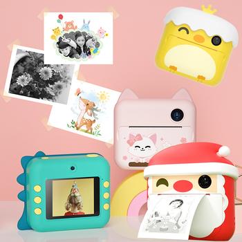 Aparat fotograficzny 1080P HD dla dzieci aparat fotograficzny dla dzieci aparat Polaroid papier termiczny zabawki świąteczne aparat na prezenty urodzinowe tanie i dobre opinie PULUZ 2x-7x CN (pochodzenie) WIFI Full hd (1920x1080) 4 3 cali 15-45mm 10 0-20 0MP 1080P Polaroid Instant Print Digital Camera