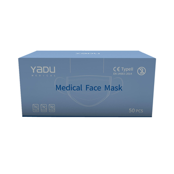 100 Pcs Blue Anti-Bacteria Disposable Surgical Masks Medical Protect Nose Mouth Masks 3-Ply Anti-PM2.5 Flu Dust-proof Face Masks