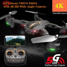 Quadcopter VISUO XS812 RC Drone GPS Drones with 4K HD Wide Angle Camera Helicopter Altitude Hold Foldable Quadrocopter Toy global drone visuo xs809hw upgrade xs812 gps drone folding selfie dron with hd fpv camera quadrocopter rc drones with camera hd