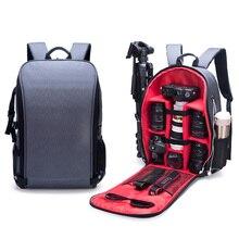 """Mochila impermeable de nailon para foto y hombros, bolsa para portátil de 15,6 """"con puerto USB para trípode de objetivo de fotografía Canon, Nikon, Sony y SLR"""