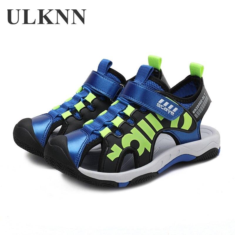 ULKNN STUDENT'S Sandals Boy 9 Big Boy 12-Year-Old BOY'S Closed-toe Sandals Summer 8 Anti-slip Soft-Sole Young